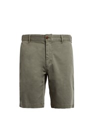 Faherty Slim Fit Cotton Blend Chino Shorts Grey
