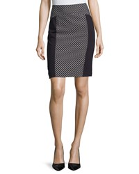Laundry By Shelli Segal Paneled Pencil Skirt Dark Moonlight