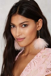 Nasty Gal Puff You Forever Earrings Pink
