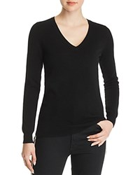 Bloomingdale's C By V Neck Cashmere Sweater 100 Exclusive Black