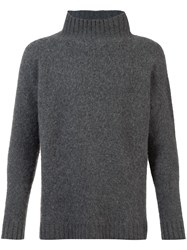 The Elder Statesman Turtle Neck Jumper Grey