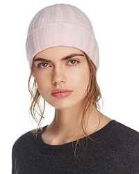 Bloomingdale's C By Ribbed Cashmere Cuff Hat 100 Exclusive Pink
