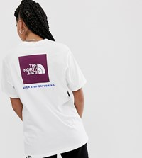 The North Face Red Box T Shirt In White Purple
