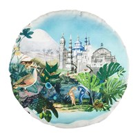Christian Lacroix Reveries Round Cushion 45Cm Vert Buis