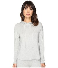 Lauren Ralph Lauren Lounge Hooded Sweatshirt Heather Grey Women's Pajama Gray