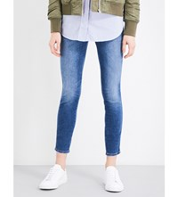 Closed Pusher Skinny High Rise Jeans Summer Mid Blue