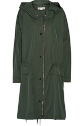 Stella Mccartney Cierra Taffeta Hooded Jacket Green