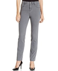 Styleandco. Style Co. Petite Slim Leg Tummy Control Jeans Whisper Grey