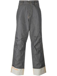 Walter Van Beirendonck Vintage Baggy Denim Trousers Grey