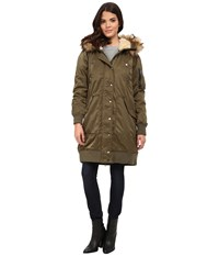Diesel W Pury Jacket Olive Green Women's Coat Multi