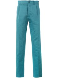 Massimo Piombo Mp Classic Pleat Front Trousers Men Cotton 46 Green