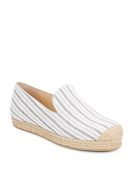 Stuart Weitzman Retreat Striped Canvas Espadrilles Ice