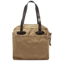Filson Zip Tote Bag Brown