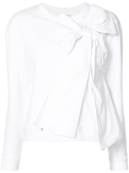 Red Valentino Bow Detail Sweatshirt White