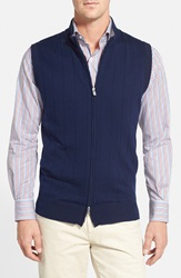 Peter Millar Merino Wool Blend Vest Bright Navy