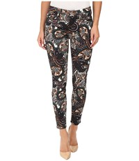 7 For All Mankind The Ankle Skinny In Underground Paisley Underground Paisley Women's Jeans Multi