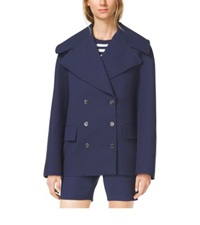 Michael Kors Cotton Crepe Peacoat Indigo