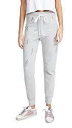 Wildfox Couture Silver Bolt Jack Joggers Heather Grey