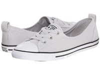 Converse Chuck Taylor All Star Ballet Lace Summer Material Mouse White Black Women's Shoes