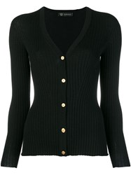 Versace Fitted Cardigan Black