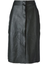 Lanvin Leather Skirt Green