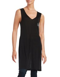 Highline Collective Side Slit Tunic Black