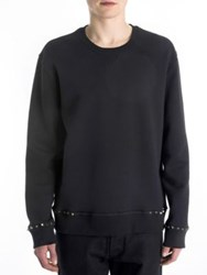 Valentino Solid Long Sleeve Sweater Black