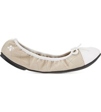 Butterfly Twist Olivia Quilted Ballet Flats Nude Cream
