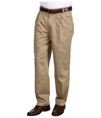 Dockers Never Iron Essential Khaki D3 Classic Fit Pleated British Khaki Men's Casual Pants Brown