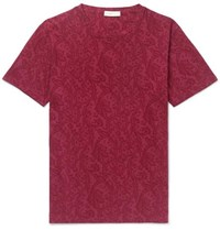 Etro Paisley Print Cotton Jersey T Shirt Red