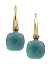 Nudo Small 18K Blue Topaz Earrings Pomellato Pink