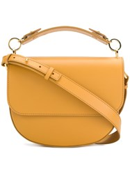 Sophie Hulme The Bow Satchel Calf Leather Yellow Orange