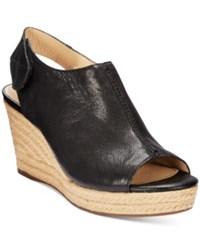 Geox D Soleil Wedge Sandals Women's Shoes Black Oxford
