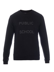 Public School Logo Print Cotton Blend Jersey Sweatshirt