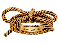 Marc Jacobs Bow Rope Bow Ring Antique Gold
