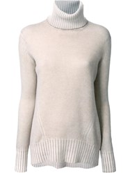 Drumohr Bleached Roll Neck Jumper Brown