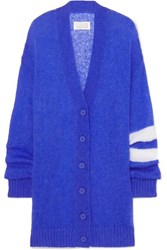 Maison Martin Margiela Striped Open Knit Cardigan Blue