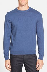 Men's Big And Tall Nordstrom Cotton And Cashmere Crewneck Sweater Blue Classic Heather