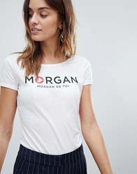 Morgan Motif Tee White