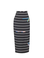Preen Eunice Stripe Print Pencil Skirt