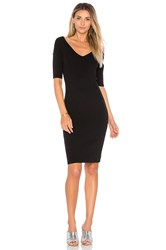 525 America Portrait Wide V Dress Black