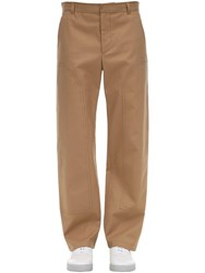 Burberry Cotton Canvas Workwear Pants Beige