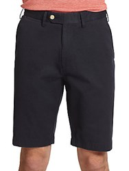 Saks Fifth Avenue Collection Tailored Pima Cotton Shorts Navy