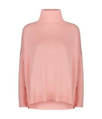 Escada Sport Wool Cashmere Roll Neck Sweater Light Pink