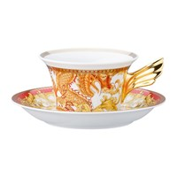Versace Home 25Th Anniversary Asian Dream Teacup And Saucer Limited Edition