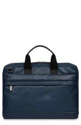 Knomo London Barbican Foster Leather Briefcase Blue