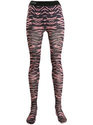 Laneus Tiger Print Leggings Pink