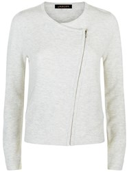 Jaeger Side Zip Cardigan Grey Melange