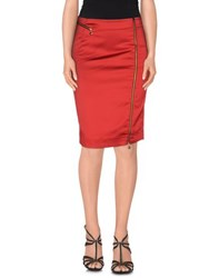 Just Cavalli Skirts Knee Length Skirts Women Red