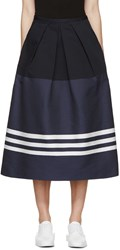 Jil Sander Navy Bold Stripe Skirt